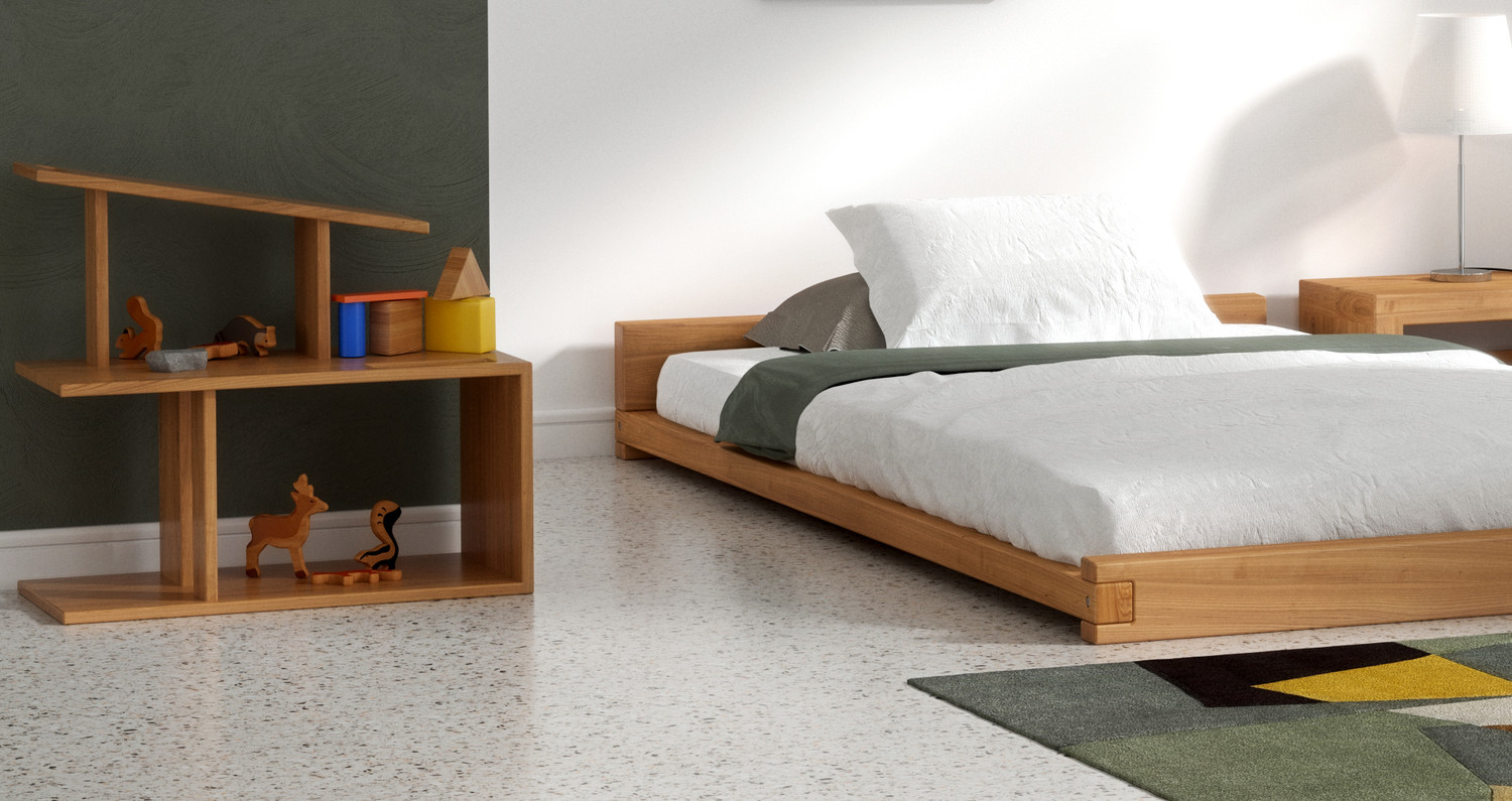 Montessori Bed Reversible With An Incline Nunawe